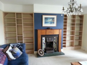 Bespoke bookcases made to customer specifications from 18mm MDF