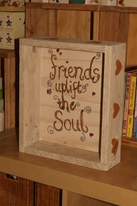 Rustic box made from pallet wood