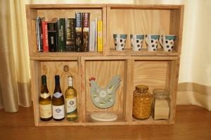 Pallet wood boxes