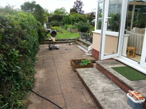 Raised decking - before pic 1