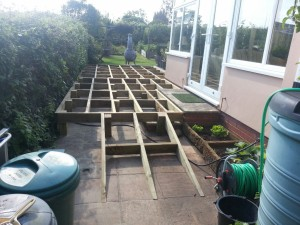 Raised decking - framework in place pic 2
